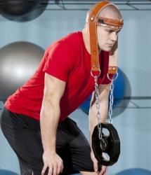 Упражнения с хомутом для шеи